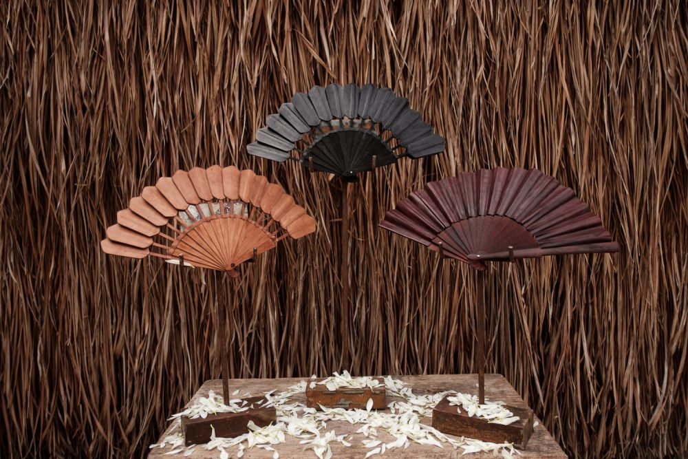 Handmade Leather Fans